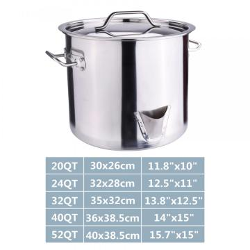 40QT Stainless Steel Stock Pot with Lid