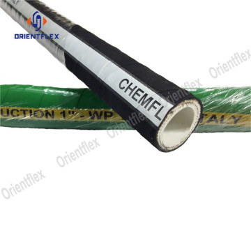reinforced industrial chemical suction rubber hose