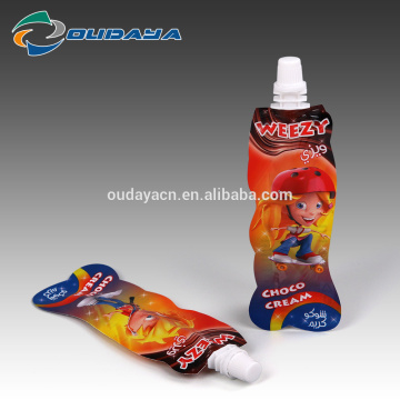 Food & Beverage Package Shaped Spout Juice Pouch
