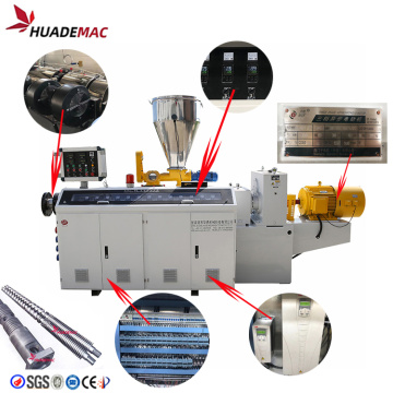 PVC double screw extruder machine