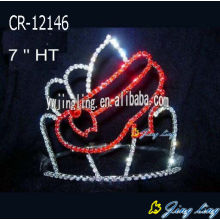 High Quality Glitz Pageant Crowns Shoes Shape