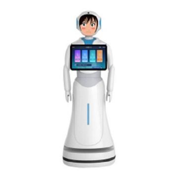 Robot Saying Welcome Advanced Humanoid Imitation Robot