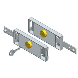 Roller shutter lock set Straight bolt