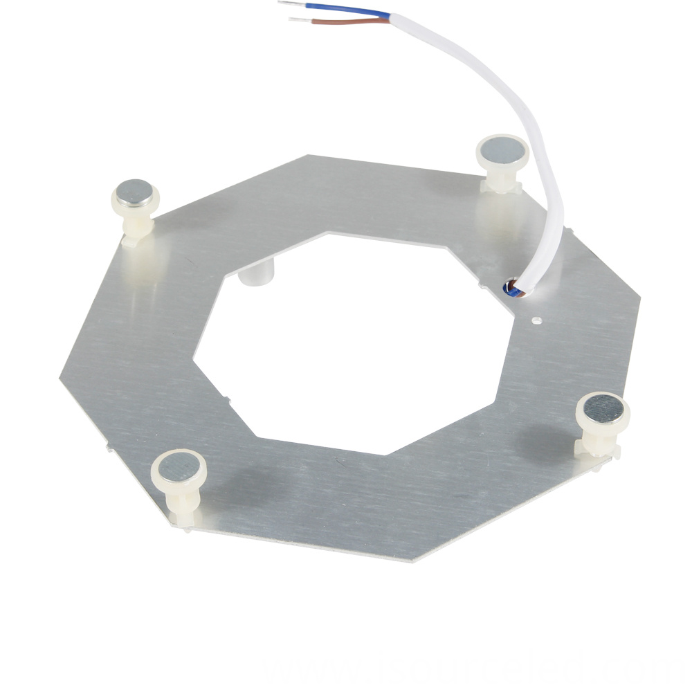 AC linear Lens white light 14W ceiling module bottom view