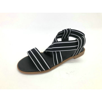 Ladies Sandal With Elastic Upper
