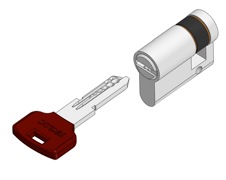 Single side pc key lock cylinder
