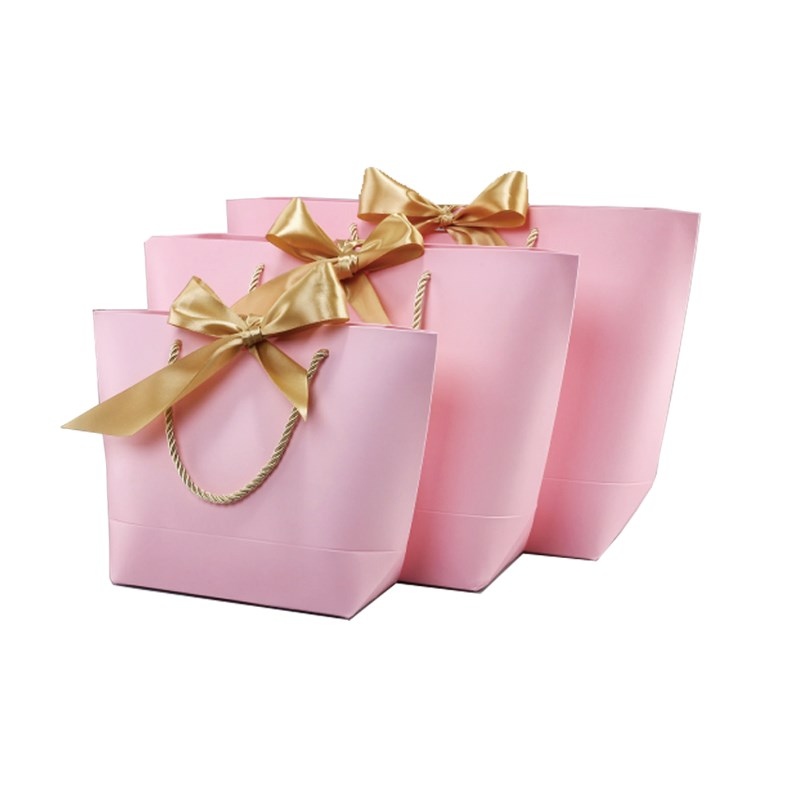 Decorated paper gift bags