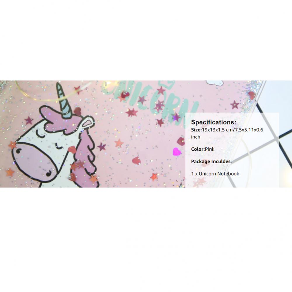 Unicorn Sequins Liquid Notebook 6