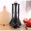 Quality Nylon kitchenware cooking utensil set with holder