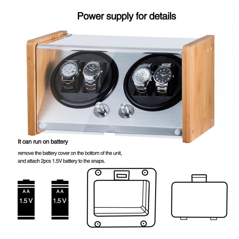 Two rotors watch winder