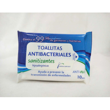 Antibacterial Hand Sanitizing Skincare Wipes