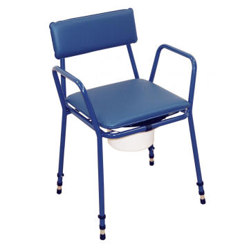 Blue Color Stacking Commode