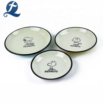 Fashion special design tableware cartoon restaurant plate ceramic