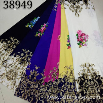 Custom 100% Polyester Printed Pearl Chiffon Dress Fabric
