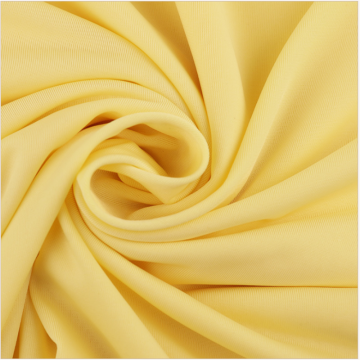 Breathable Yellow Ice Silk Polyester Knitted Garment Fabrics