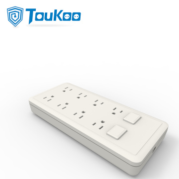 8 gang American power strip with overload protection