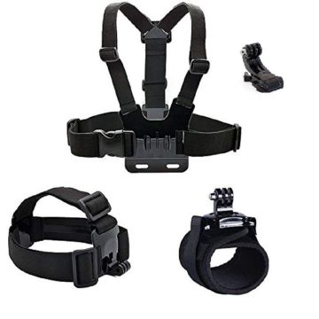 Camera accessories Head strap Chest strap Hand band mount kit for gopro Hero 5/Session/4/3/2/HD Original Black Silver Cameras
