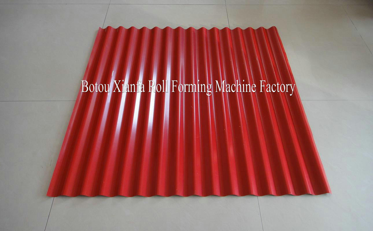 corrugated aluminum sheet machine