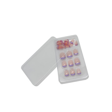 Cosmetic transparent false nail blister tray
