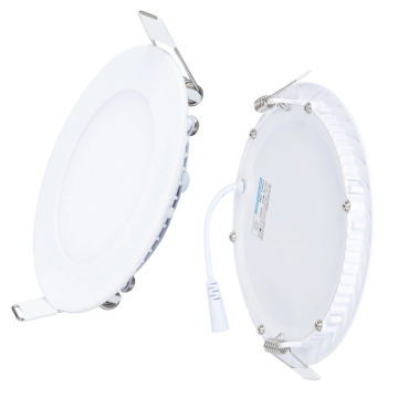 White recessed LED downlights for shops