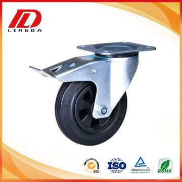 4`` PA rubber caster wheels with lock