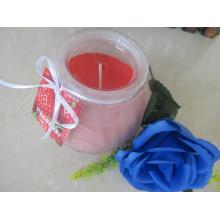 Relaxing Strawberry Frosted Glass Candle