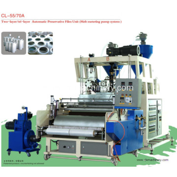 LLDPE Plastics Film Biyu Dunƙule Cast Film Machine