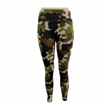 Ladies Knit Print Legging Pants