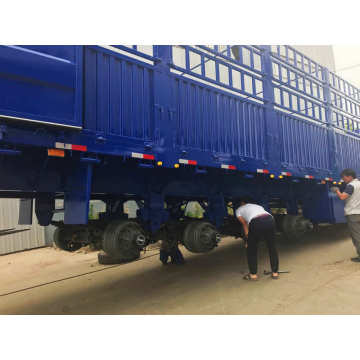 3 Axle Storage Stake Semi Trailer Truck