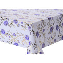 Transfer Printing Tablecloth with Gold snowflake
