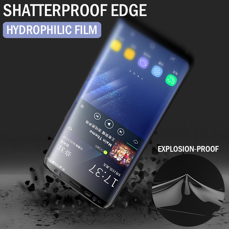 2Pcs 100D Screen Protector For Samsung Galaxy S10 S9 S8 S20 Plus Ultra Full Cover Soft Film For Samsung Note 10 9 Film Not Glass