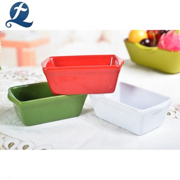 Wholesale Custom Color Rectangle Dinnerware Sets Ceramic Tableware