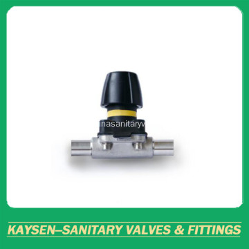DIN Sanitary Mini manual diaphragm valves weld end