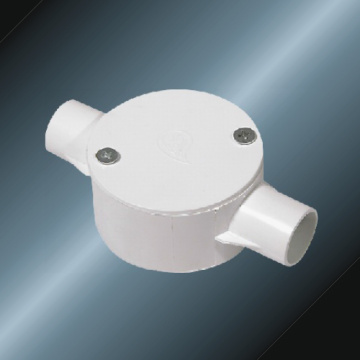 PVC Insulating Electrical Drive Two Way Circular Box