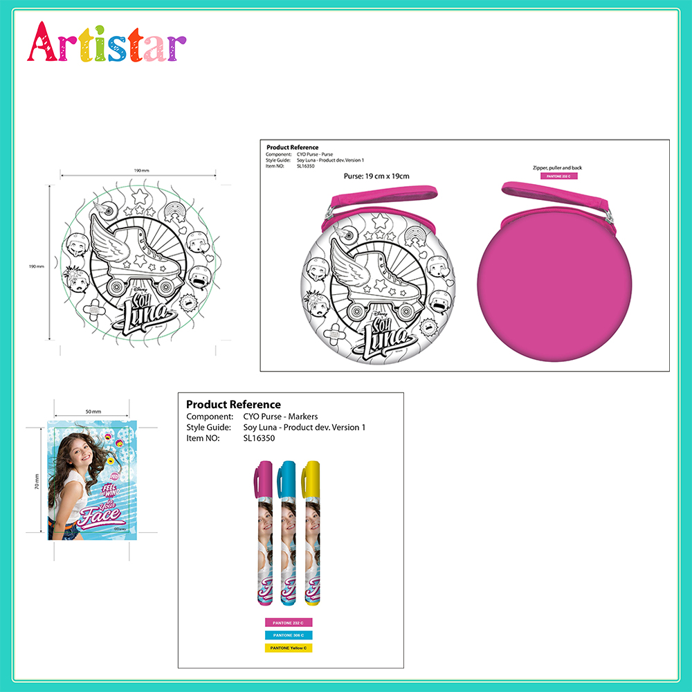 Disney Soy Luna Colouring Your Own Bag 2