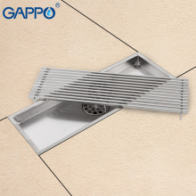 GAPPO Drains stainless steel recgangle linear floor drains waste drain water drains strainer anti-odor bathroom floor cover