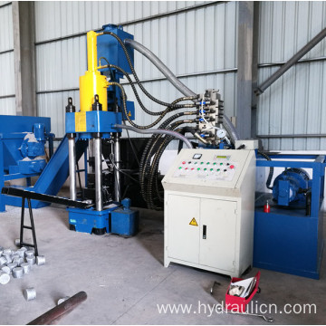 Hydraulic Automatic Metal Scissel Chips Briquette Machine