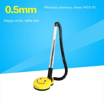 Happy smile Table pen Desk gel Pen counter Table roller ball pen for bank hospital Hotel information desk Pen Wholesale