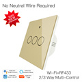EU 86 Version WIFI+RF433 Smart Light Wall Switch Smart Life/Tuya App Works With Alexa Google Home 200-240V Bluetooth Control