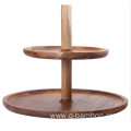 Wood 2 tier cake stand