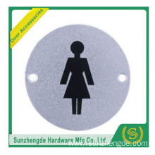 BTB SSP-002SS Stainless Steel Round Cover Female Toilet Sign Plate