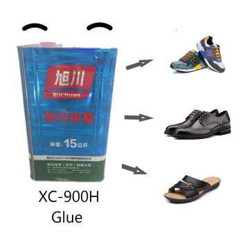 Non-yellowing high viscosity shoes PU glue