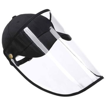 Anti-spuiten Clear Face Shield Protective Hat Cover