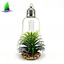 Light Bulb Shape Hanging Glass Vase