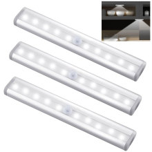 PIR Motion Sensor LED Cabinet Light 6 /10 leds Automatic Sensor Wardrobe Closet Lights Drawer Night Light Lamp for Indoor