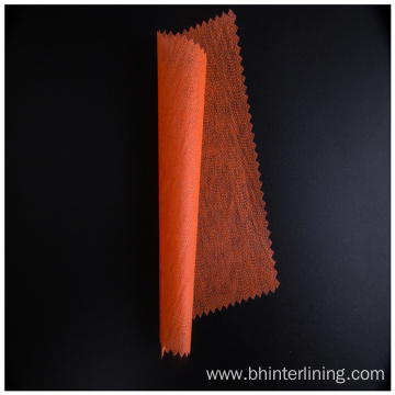 Shrink-Resistant thermo-bonded adhesive nonwoven interlining