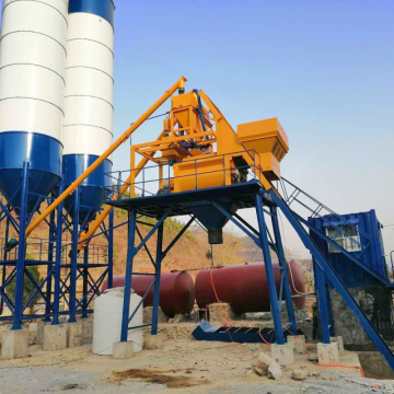 Electric industrial 25m3 mini mix concrete batching plant