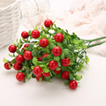 Plastic Red Pepper Bunch Artificial Plants Simulation Peppers Fake Vegetables Corsage Placed Fruits for Home Garden Decoration