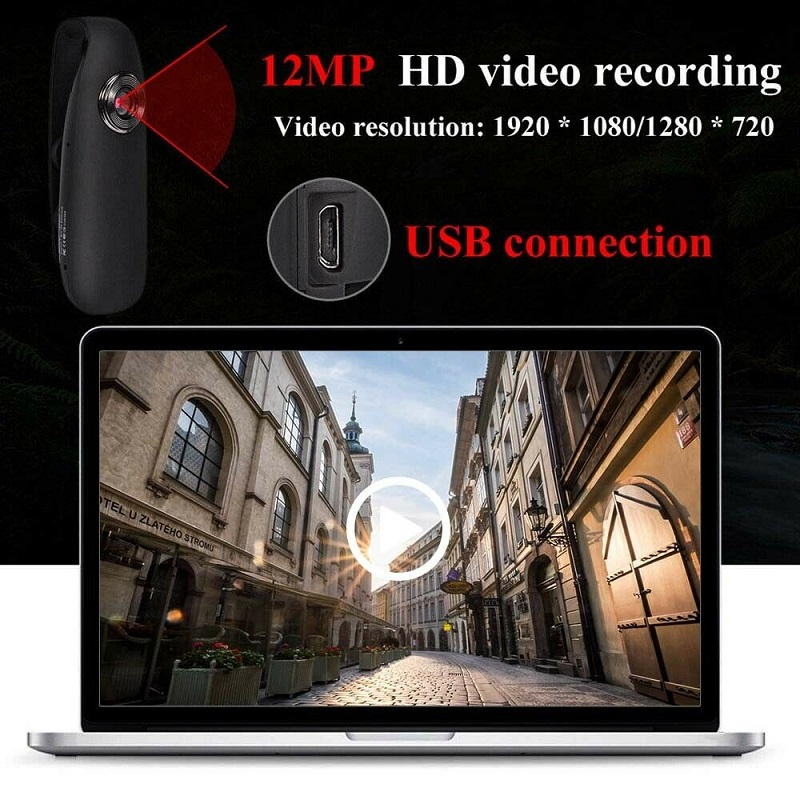 Action camera Mini Digital Camera HD Micro Cam Magnetic Body Camera Motion Detection Snapshot Loop Recording Camcorder