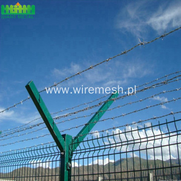 easily assembled airport security fence for protection